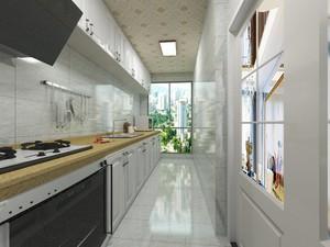 一字型小厨房装修效果图,新中式一字型厨房装修效果图
