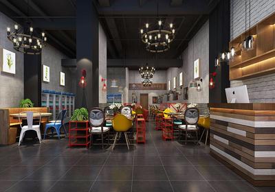 餐饮店面门口的装修效果图,15平方餐饮店面装修效果图