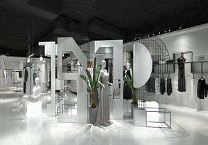高档服装店门面设计效果图,服装店门面装饰效果图