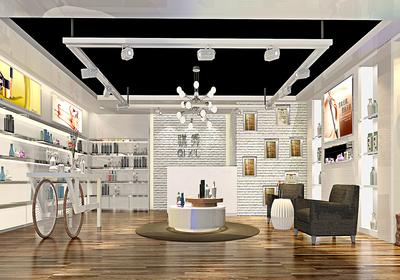 化妆品店的装修效果图,创意化妆品店装修效果图