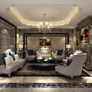 客厅中式地板一居室装修