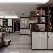 厨房中式博古架一居室装修