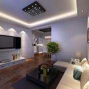 客厅现代局部70平米装修