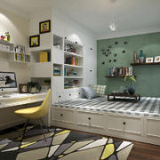 儿童房现代榻榻米一居室装修