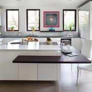 厨房现代吧台90平米装修