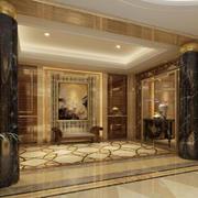 客厅欧式地面100平米装修