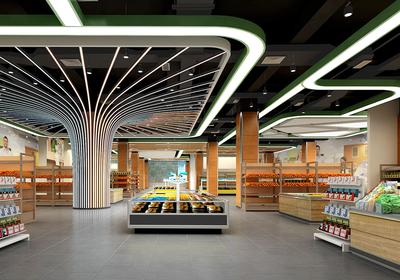 超市装修吊顶设计效果图,超市装修吊顶设计效果图大全