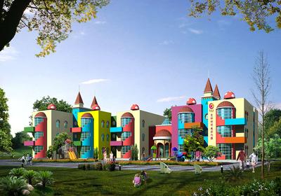 幼儿园建筑设计效果图,幼儿园建筑正面效果图