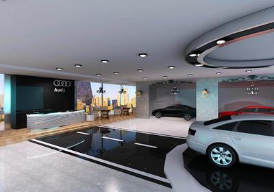 汽车展厅效果图设计,汽车展厅设计外观效果图