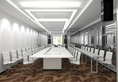 多功能视频会议室装修效果图,多功能会议室设计效果图方案