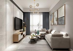 90平米现代简约风格装修案例,家装现代简约风格装修案例