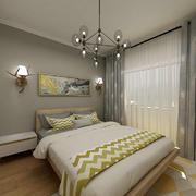 卧室北欧壁纸小户型装修