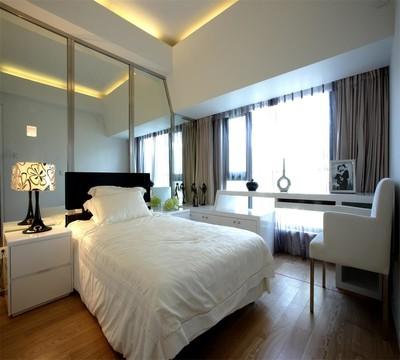 客厅一半改卧室效果图,18平米客厅改一半卧室效果图