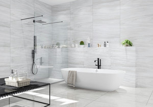 淺灰色地磚上墻衛生間效果圖,淺灰色地磚衛生間效果圖