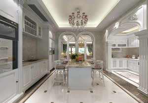 开放厨房客厅一体装修图,三室厨房客厅一体装修图
