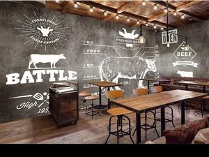 牛排餐厅门面装修效果图,美式餐厅门面装修效果图