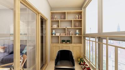 多功能卧室书房装修效果图,阳台改多功能书房装修效果图