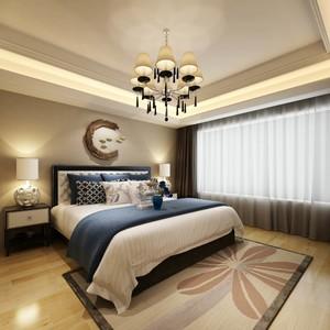简约新中式青年卧室装修图片,新中式卧室风格装修图片欣赏
