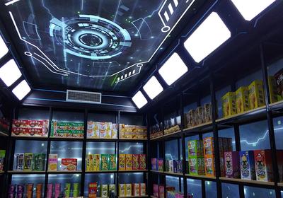 连锁便利店灯光设计效果图,超市便利店灯光设计效果图