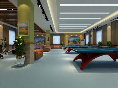 单位健身房设计效果图,单位室内健身房设计效果图