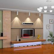 客厅现代影视墙100平米装修