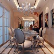 餐厅现代照片墙90平米装修