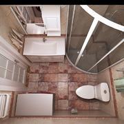 卫生间现代局部80平米装修
