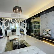 客厅现代隔断一居室装修