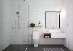 卫生间干湿分区修效果图,干湿分区卫生间装修效果图
