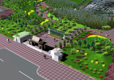 小工厂绿化效果图,小工厂绿化设计效果图