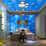 儿童房简约壁纸一居室装修
