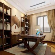 书房中式局部一居室装修