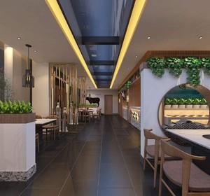 餐饮店面墙面装修效果图,青砖装修餐饮店面效果图