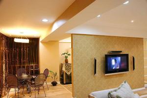 职工餐厅木质隔断墙装修效果图,客厅与餐厅电视墙隔断装修效果图