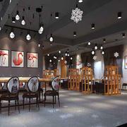 餐厅现代局部100平米装修
