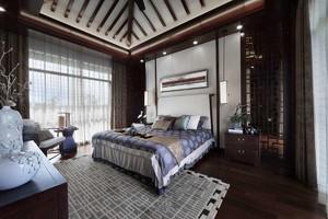 卧室中式复古装修风格效果图,别墅中式复古装修风格效果图