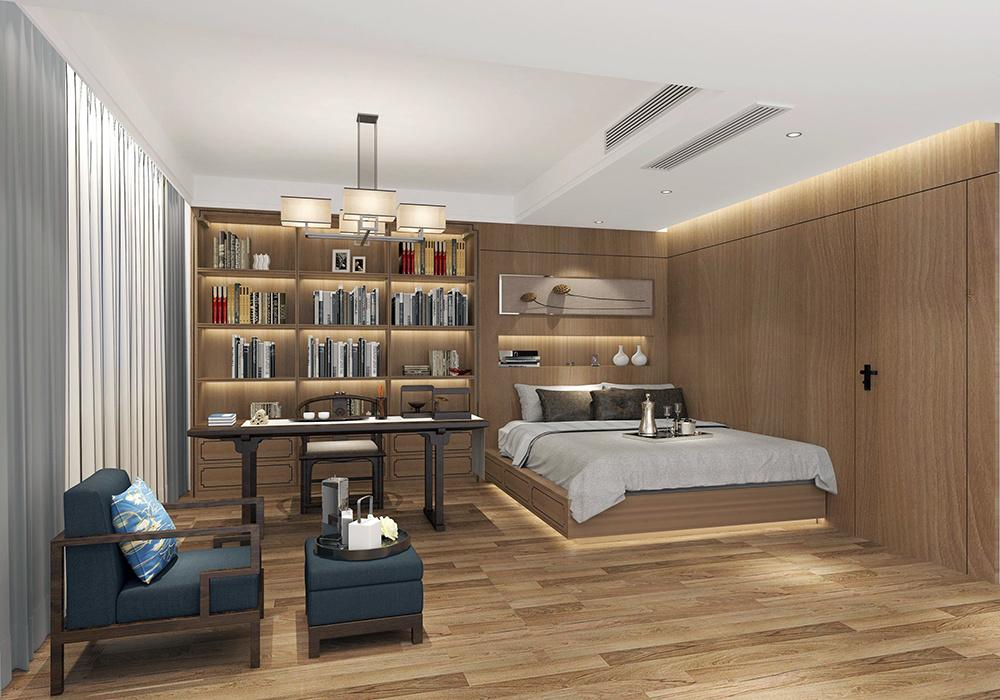 中式简约装修客厅电视背景墙效果图,中式复式楼客厅电视背景墙装修图片
