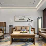 客厅美式背景墙大户型装修