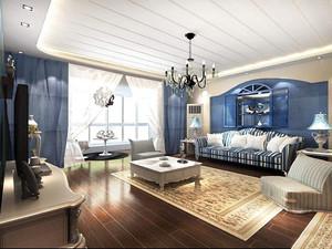 地中海风格装修效果图客厅图片,装修地中海风格客厅效果图
