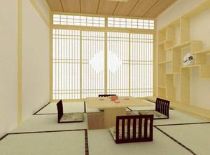 日式和風裝修客廳地臺,和風日式裝修高清圖