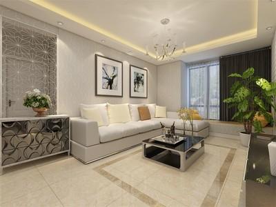 现代简约100平米风格装修样板房,100平米南北通透装修样板房