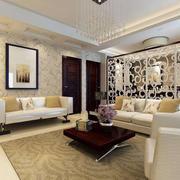 客厅现代隔断100平米装修