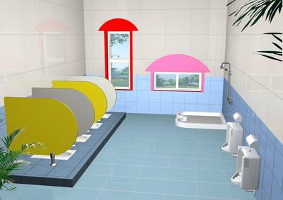 小型幼儿园卫生间装修效果图大全2019图片