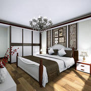 卧室中式局部90平米装修