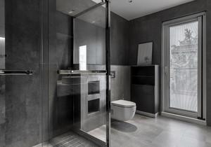 干湿分区卫生间装修效果图,卫生间半墙干湿分区装修效果图