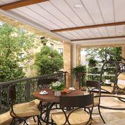 阳台简约吊顶一居室装修