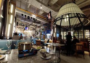海鲜音乐餐厅装修效果图,海鲜餐厅店面装修效果图