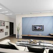 客厅简约背景墙一居室装修