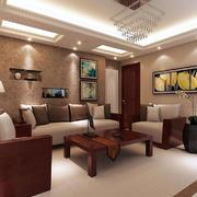 客厅中式窗帘一居室装修