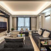 客厅现代窗帘一居室装修